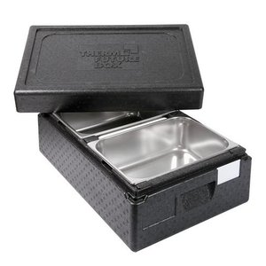 XXLselect Thermo Ice-Transportbox 2 x 1 / 2GN | Int. 2 x 150 (H) x250x360mm | stapelbare