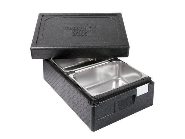 XXLselect Thermo IJs-Transportbox 2 x 1/2GN | Int. 2x 150(H)x250x360mm | Stapelbaar