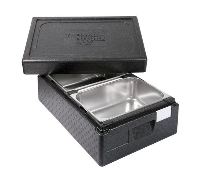 XXLselect Thermo Ice-Transportbox 2 x 1 / 2GN | Int. 2 x 150 (H) x250x360mm | Stackable