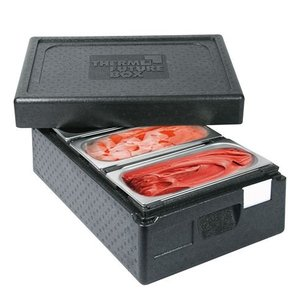 XXLselect Thermo Ice-Transportbox 3 x 1 / 3GN | Int. 3 x 150 (H) x165x360mm | Stackable