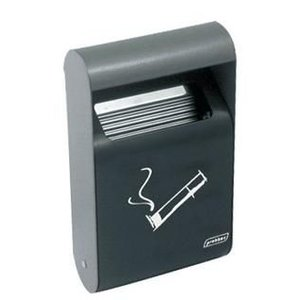 XXLselect Rectangular Wall ashtray | 0.5 Liter | Up to 150 butts | 152x64x255mm