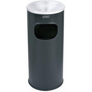 XXLselect Afvalbak met Asbak Zwart | Binnenemmer 30 Liter | Vlamdovend | 250x250x650mm
