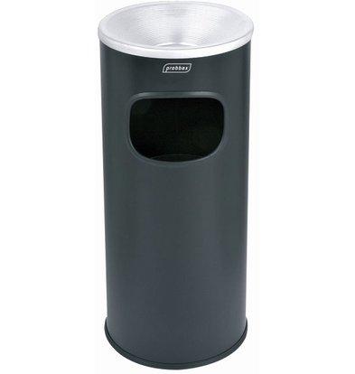 XXLselect Abfallsammler mit Ascher Black | Inneneimer 30 Liter | Flammschutzmittel | 250x250x650mm