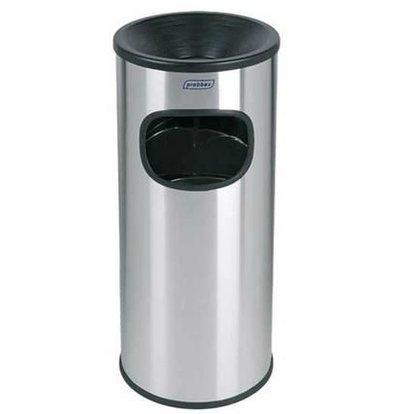 XXLselect Afvalbak met Asbak | RVS | Binnenemmer 30 Liter | 250x250x(H)650mm