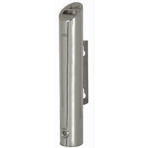 XXLselect Tubulaire Wandasbak | Blinkend RVS | 1,8 Liter | Tot 540 Peuken | 75x75x(H)460mm