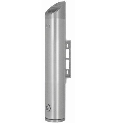 XXLselect Tubular Wall ashtray   Aluminium   2.4 Liter   Up to 720 butts   80x80x (H) 480mm