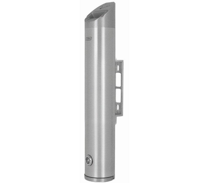 XXLselect Tubular Wall ashtray | Aluminium | 2.4 Liter | Up to 720 butts | 80x80x (H) 480mm