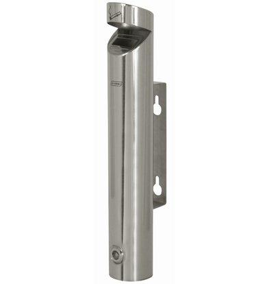 XXLselect Tubular Wandascher | mit Deckel | 1,7 Liter | Bis 510 Kippen | 76x76x (H) 460mm