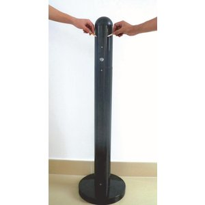XXLselect Peuk Column | Heavy Foot | Black | 3 Liter | Up to 900 butts | 300x300x1080mm