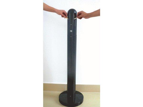 XXLselect Peuk Säule | Schweren Fuß | Black | 3 Liter | Bis zu 900 Kippen | 300x300x1080mm
