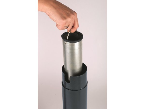 XXLselect Peukenzuil   Zware Voet   Zwart   3 Liter   Tot 900 Peuken   300x300x1080mm