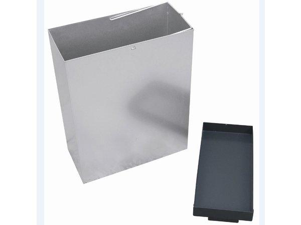 XXLselect Standascher | mit Afvalbak | Black | 3 Liter + 29 Liter Abfallbehälter | Bis zu 900 Kippen