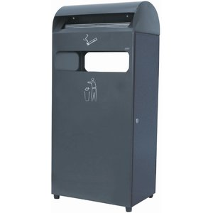 XXLselect Standing Ashtray | with Bin | black | 4.7 Litre + 48 Litre Bin | To 1400 butts