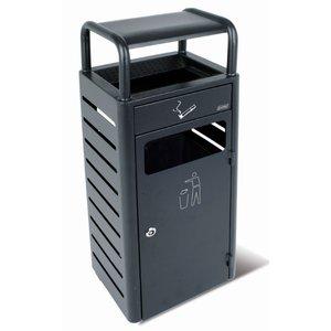 XXLselect Standascher | mit Afvalbak | Black | 2,3 Liter + 20 Liter Abfallbehälter | 690 Kippen