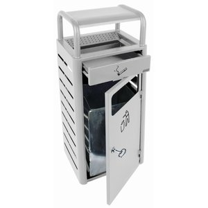 XXLselect Standascher | mit Bin | Grau | 2,3 Liter + 20 Liter Bin | 690 Kippen