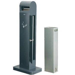 XXLselect Standascher Totem | Black | 12,5 Liter | Bis 3750 Kippen | 400x260x (H) 1040mm