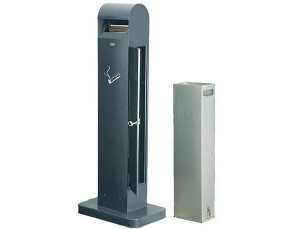 XXLselect Standing Ashtray Totem | Black | 12.5 Liter | Until 3750 butts | 400x260x (H) 1040mm