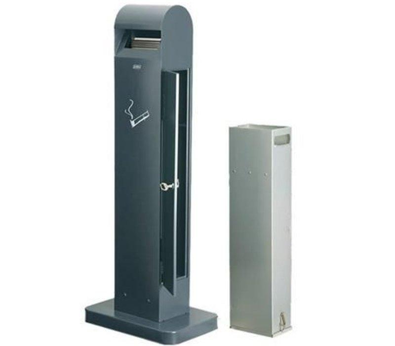 XXLselect Staande Asbak Totem | Zwart | 12,5 Liter | Tot 3750 Peuken | 400x260x(H)1040mm