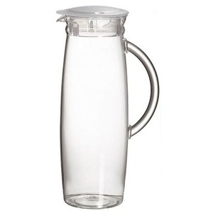 Emga Schenkkan | 1,3 Liter | Polycarbonaat | Transparant met Deksel | Hoogte 26cm