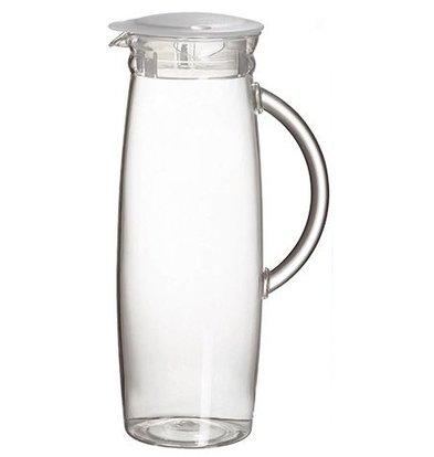 Emga Jug | 1,3 Liter | Polycarbonat | Mit transparentem Deckel | Höhe 26cm