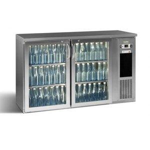 Gamko Flasche Chill-2-Tür | Chrom | Gamko E3 / 22GMUCS | 344 33 cl Flaschen. | 364l | ECO-Line | 1434x492x (h) 840 / 860-880mm