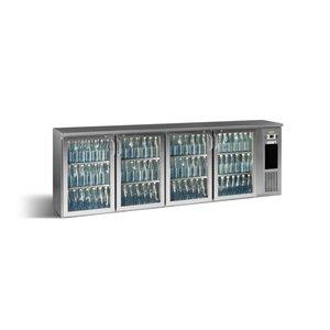 Gamko Flessenkoeling 4-Deurs | Antraciet | Gamko E3/2222GMUCS | 722 Flessen 33cl. | 728L | ECO-Line | 2542x492x840/860-880mm