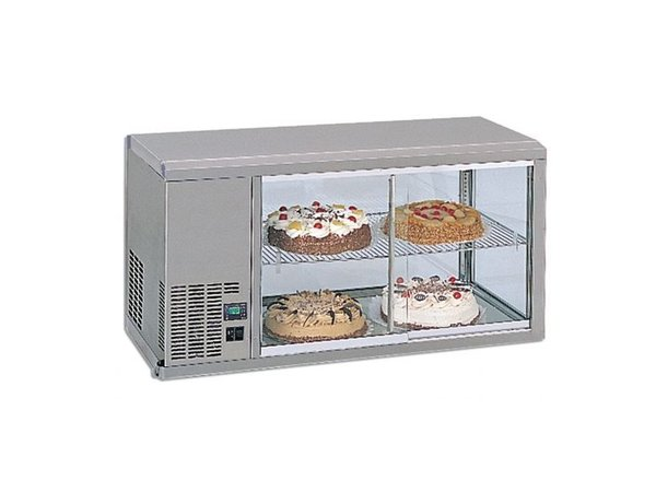Gamko DESIGN: Refrigerated display case | Gamko AV / MS111 | Machine Links | Sliding Glass / Fixed Square | 1110x510x550 / 565mm