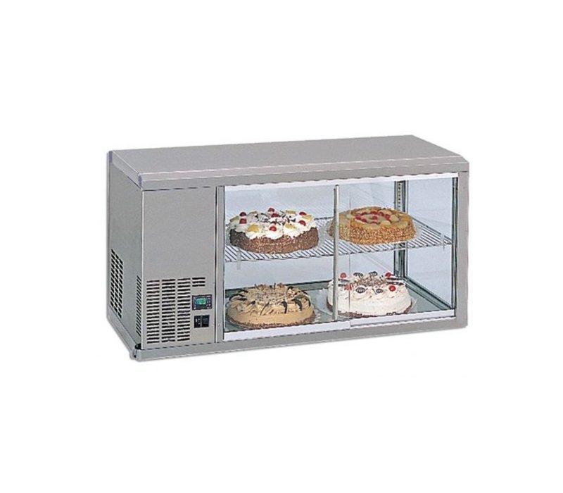 Gamko DESIGN: Kühlvitrine | Gamko AV / MS111 | Maschinen Links | Glas-Schiebe / Festplatz | 1110x510x550 / 565mm