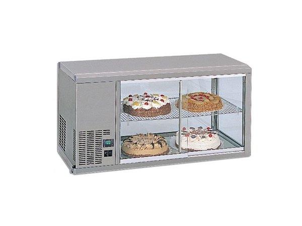 Gamko DESIGN: Kühlvitrine | Gamko AV / MS111SF | Maschinen Links | Glas-Schiebe / Windows Flip | 1110x510x550 / 565mm