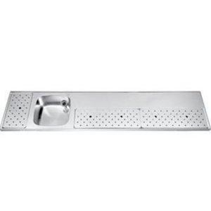 Gamko Edelstahl Stabober Sink + Links   Gamko ST BB230L   Rund Motiv   500x2300mm   STAR-Line