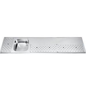 Gamko Stainless steel bar top Sink + Links | Gamko ST BB230L | Around Motif | 500x2300mm | STAR-Line