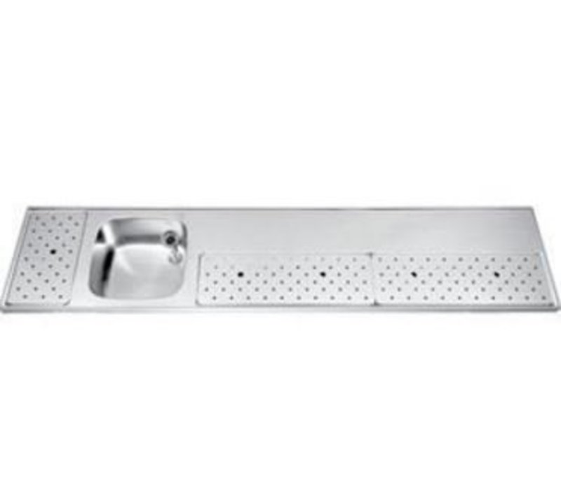 Gamko Edelstahl Stabober Sink + Links | Gamko ST BB230L | Rund Motiv | 500x2300mm | STAR-Line
