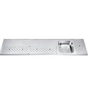 Gamko Stainless steel bar top + Sink Right | Gamko ST BB230R | Around Motif | 500x2300mm | STAR-Line
