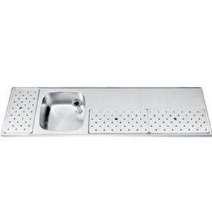 Gamko Edelstahl Stabober Sink + Links | Gamko ST BB200L | Rund Motiv | 500x2000mm | STAR-Line