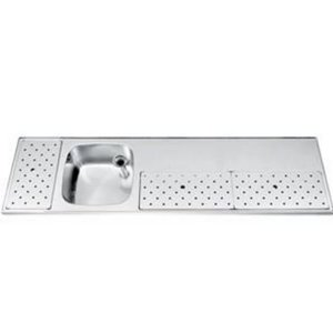 Gamko Stainless steel bar top Sink + Links | Gamko ST BB200L | Around Motif | 500x2000mm | STAR-Line