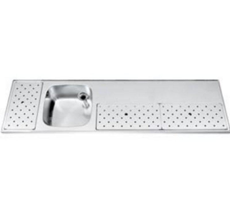 Gamko Stainless steel bar top Sink + Links | Gamko ST BB200L | Around Motif | 500x2000mm | STAR-Line
