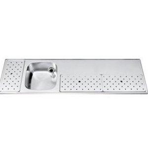 Gamko Edelstahl Stabober Sink + Links | Gamko ST BB180L | Rund Motiv | 500x1800mm | STAR-Line