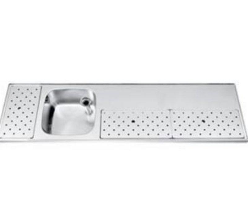 Gamko Stainless steel bar top Sink + Links   Gamko ST BB180L   Around Motif   500x1800mm   STAR-Line