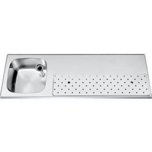 Gamko Stainless steel bar top Sink + Links | Gamko ST BB150L | Around Motif | 500x1500mm | STAR-Line