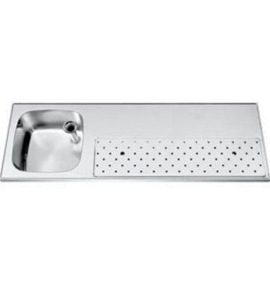 Gamko Edelstahl Stabober Sink + Links | Gamko ST BB150L | Rund Motiv | 500x1500mm | STAR-Line