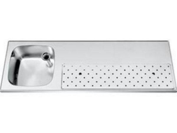 Gamko Barblad RVS + Spoelbak Links | Gamko ST-BB150L | Rond Motief | 500x1500mm | STAR-Line