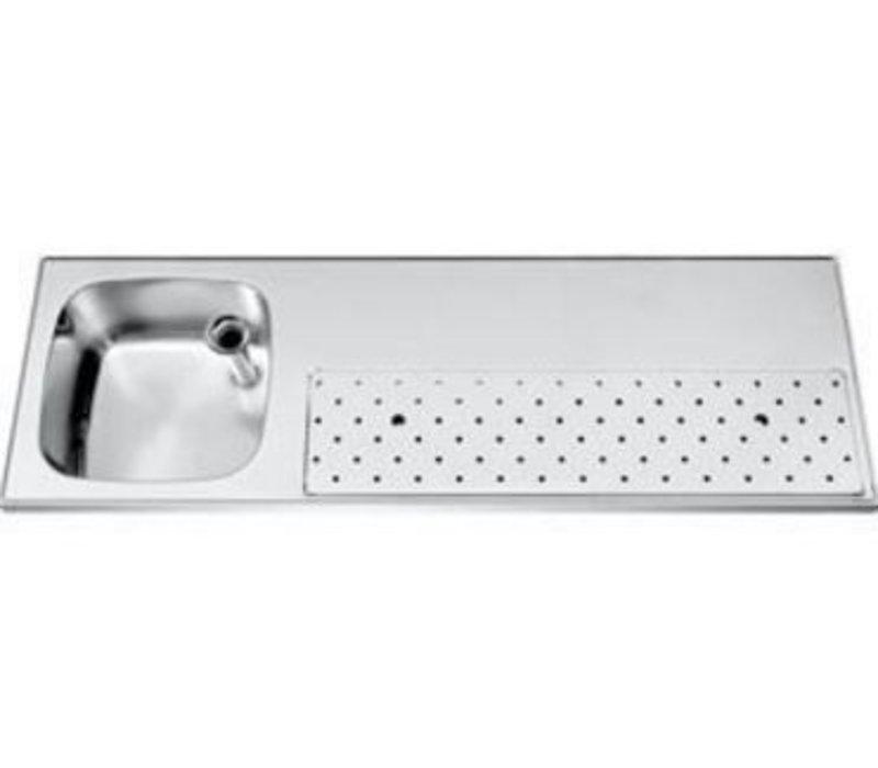 Gamko Stainless steel bar top Sink + Links | Gamko ST BB150L | Around Motif | 500x1500mm | STAR-Line