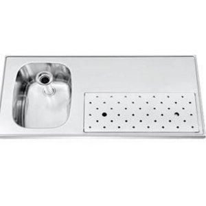 Gamko Edelstahl Stabober Sink + Links   Gamko ST BB100L   Rund Motiv   500x1000mm   STAR-Line