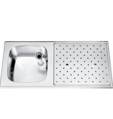 Gamko Stainless steel bar top Sink + Links | Gamko ST SL110L | Around Motif | 500x1100mm | STAR-Line