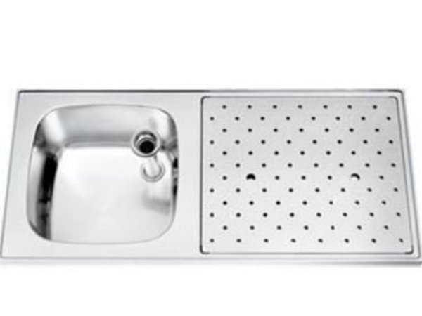 Gamko Edelstahl Stabober Sink + Links | Gamko ST SL110L | Rund Motiv | 500x1100mm | STAR-Line