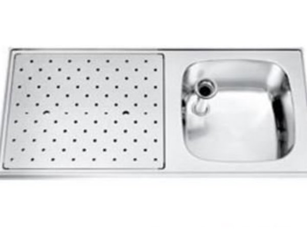 Gamko Stainless steel bar top + Sink Right | Gamko ST SL110R | Around Motif | 500x1100mm | STAR-Line