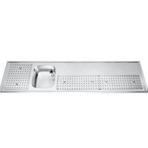Gamko Buffet Journal stainless steel sink + Links | Gamko PR BB250LUM | Around Motif | 550x2500mm | PROFI-Line