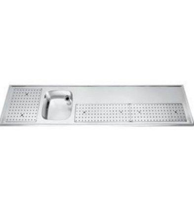Gamko Buffet Journal stainless steel sink + Links   Gamko PR BB250LUM   Around Motif   550x2500mm   PROFI-Line