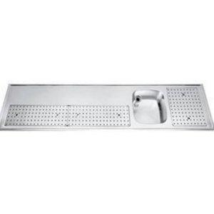 Gamko Buffet Journal RVS + Sink Recht | Gamko PR BB250RUM | Rund Motiv | 550x2500mm | PROFI-Line