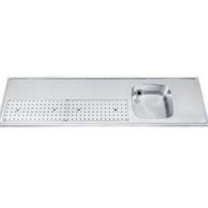 Gamko Buffet Journal RVS + Sink Recht | Gamko PR BB200RUM | Rund Motiv | 550x2000mm | PROFI-Line